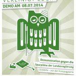 08.07.2014   Demonstration gegen die Sparpläne der Landesregierung_1