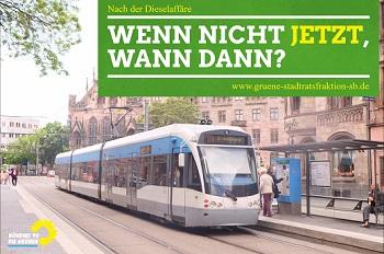 Saarbahn hält an der Johanneskirche
